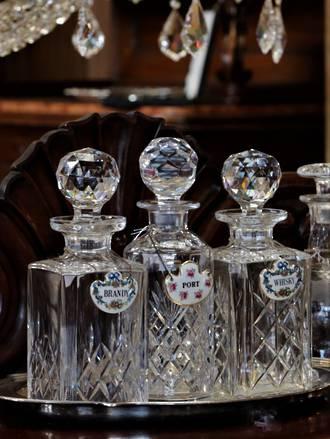 Heavy Cut Crystal Whiskey decanters $175 each