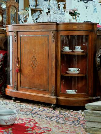 Antique French walnut Credenza  with Florentine inlay$3950.00