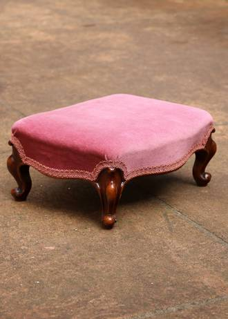 Little French Antique Walnut Footstool