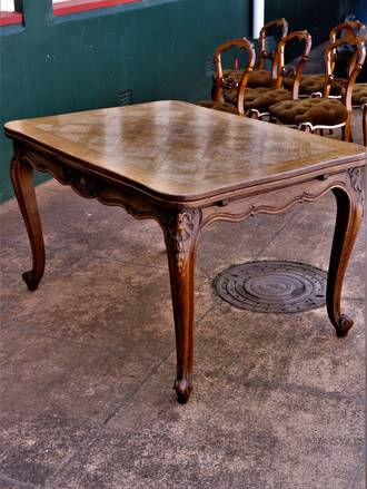 French Parquetry Extension Table $2950