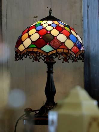 Harlequin style Tiffany Lamp