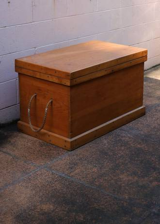 Large Kauri Trunk or Blanket Box- Mottle Kauri Interior Panel $950.00