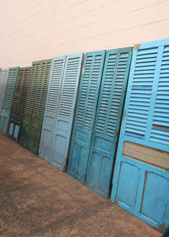 large French shutters