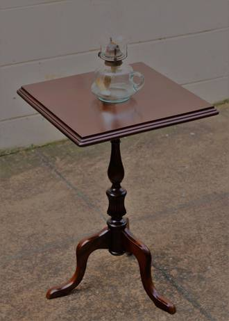 Small Square Mahogany side table