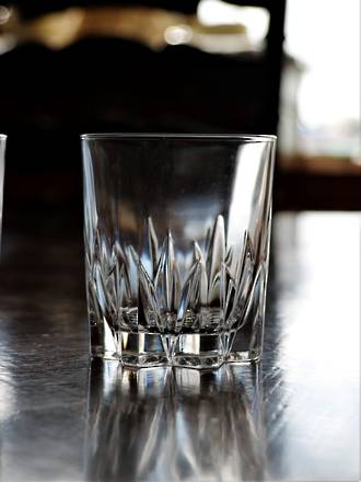 Vintage French Heavy Cut Crystal Whiskey Tumblers - Set of 6