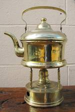 Antique Brass Spirit Kettle