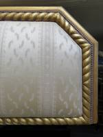 King Size French Brocade & Gilt Bed Backboard $1450.00
