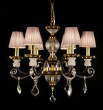 Black & Gold French Crystal Chandelier SOLD Special Order