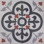 New Fleur de Lys with Flower Tile. Image shows four tiles  $7 each