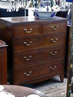 Georgian Split Chest of Drawers  Circa 1780 $3500
