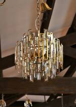 Post Modern Inspired Cut Crystal Prismatic Chandelier - Back in stock now $1595.00
