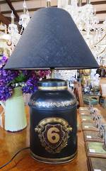 Hand Painted Reproduction Milk Can Lamp