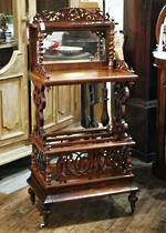 Fancy Wot-Not Canterbury with Inlaid detail and Fretwork $1750