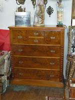 Colonial Mottled Kauri Chest of Drawers $2750