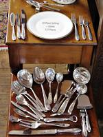 10 Place Cutlery Set Including Many Interesting Implements $1250