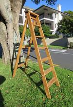 English Pine Antique Ladder $475
