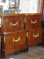 French Antique Empire Style Hollywood Regency King Size Bed or Twin Singles $3500 Set