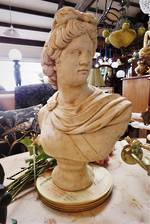 Neo Classical Style  Concrete Bust  Statue  $325