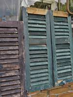 French Antique Shutters - medium pairs, large pairs, large singles