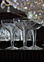 Vintage Hollow Stem Champagne Glasses Set of 6 SOLD