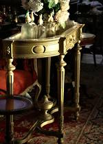 French Antique Gilded Console Planter with Original Liner $2250.00