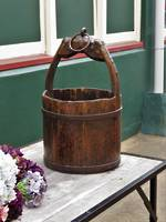 Early Elm Chinese Iron Bound Bucket sold