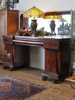 Gargantuan William IV Mirror-Backed Pedestal Sideboard -  English Mahogany $5495.00