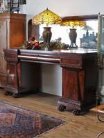 Gargantuan William IV Mirror-Backed Pedestal Sideboard -  English Mahogany $5495.00