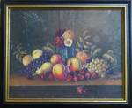 Original Victorian Oil Painting, Still life