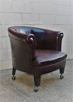 French 1930s Leather Club Chair SOLD