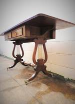 1920's English Walnut Drop Leaf Sofa Table SOLD
