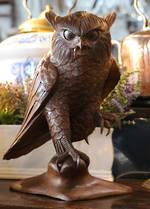 Finely Carved Oak Owl - Possibly Black Forrest SOLD