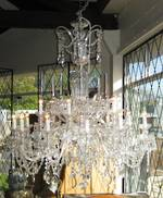 "Very Large Crystal Chandelier. As seen on ""Dancing with the Stars""TV series. SOLD"