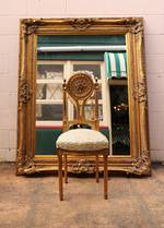 Huge Heavily Carved & Gilded Antique Mirror SOLD