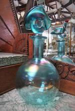 NZ/Australian Art Glass Hand Blown Decanter Signed  Chuck Simpson