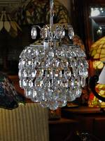 High Purity Multi Crystal Spherical Chandelier in Chrome Finish $1495.00