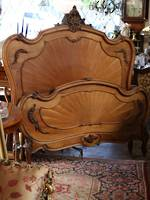 Antique Walnut Carved Sunrise French Bed - Queen Size $2950.00