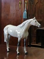 Large Dappled Gray Beswick Race Horse SOLD