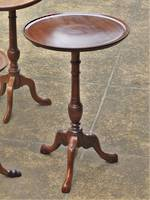 French Antique Mahogany Wine Table - Tall with Gallery Edge SOLD