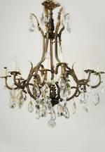 Rare Large  French Antique Crystal Chandelier $4950.00