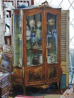 Large Antique Vitrine French Display Cabinet - Painted Scene- Omalu mounts
