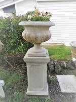 Marble Composite Plinths  $1500 pair (Urn Sold)