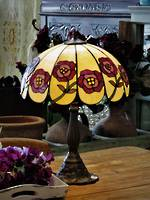 Unique Poppy Mosaic Table Lamp