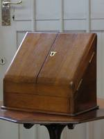 Antique Mahogany Writing Compendium