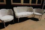 Antique French Double Cane Sofa/Couch -   Settee  only Remaining