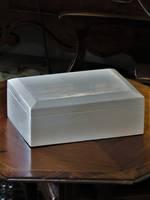 Inlaid Bone Box, Wood Lined