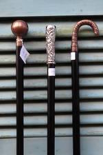 Reproduction Ebony, Copper & Silver plate Walking Sticks $69.50