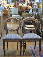 Pr Balloon Back Dining Chairs $700 pr