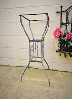 Antique French Metal Plant Stand, Hand Painted
