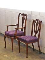 Set 6 Dining Chairs including 2 Carvers $2600 (6)